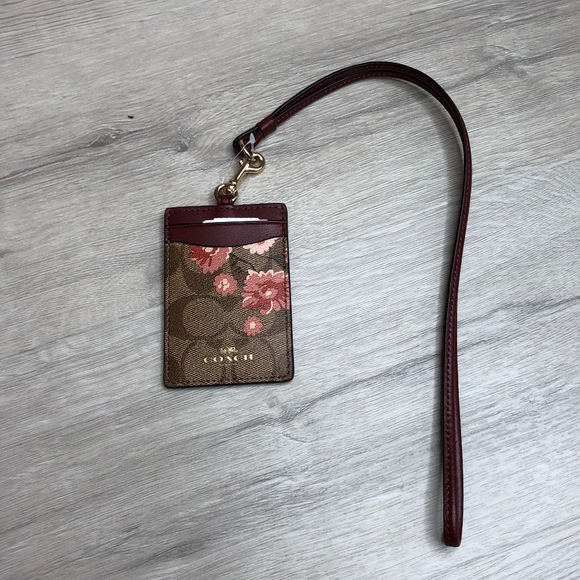 Coach Handbags - COACH ID LANYARD PRAIRIE DAISY CARD CASE WALLET